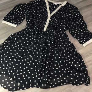 Lauren Conrad sheer polka dot dress